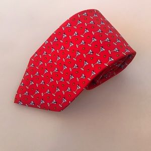Brooks Brothers silk martini and olive red tie